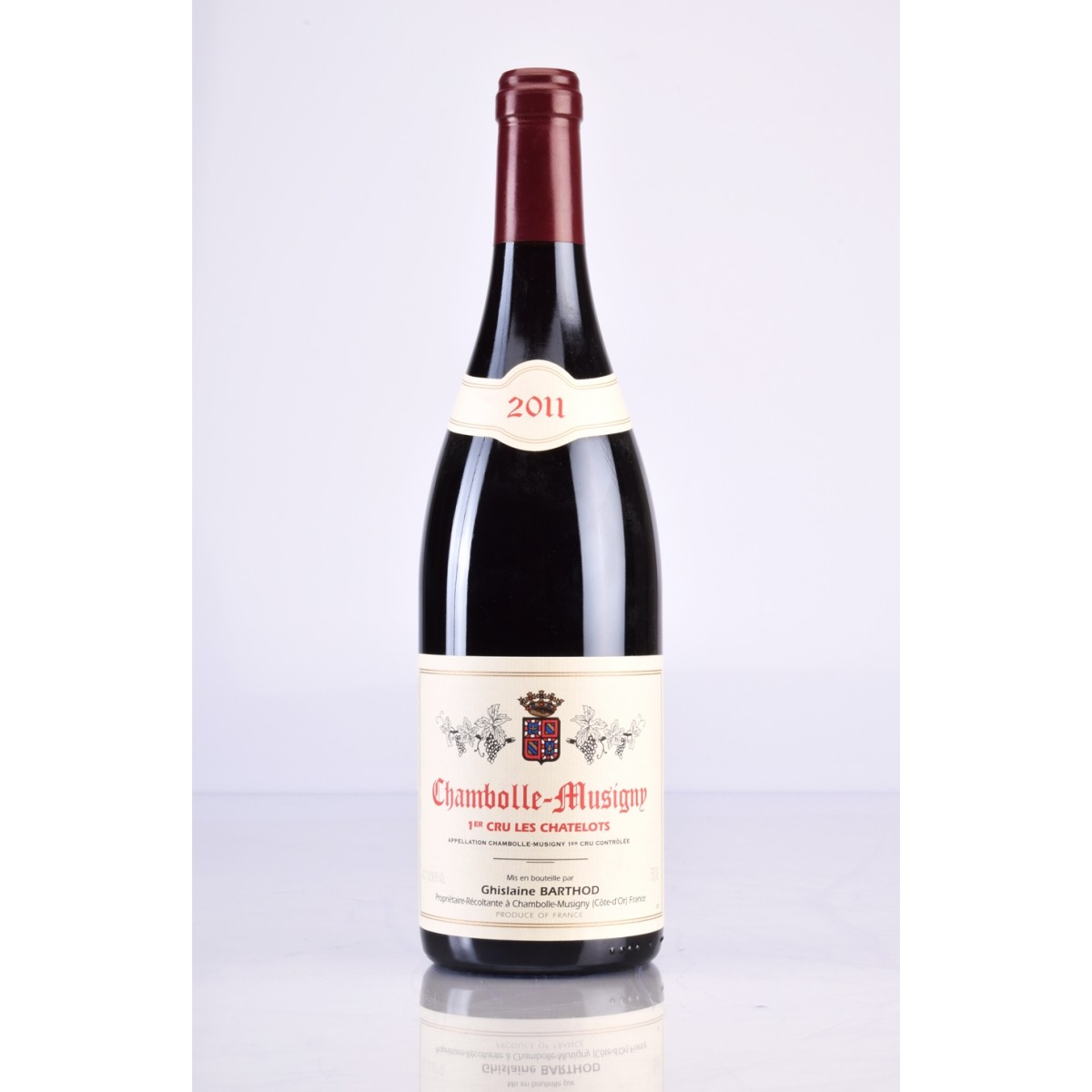 CHAMBOLLE MUSIGNY 1ER CRU LES CHATELOTS AOC 2011 DOMAINE GHISLAINE BARTHOD