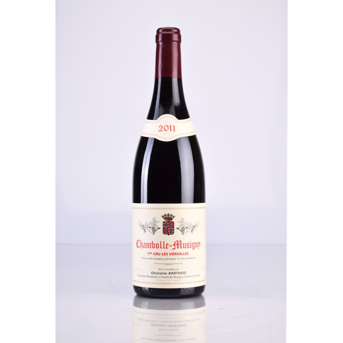 CHAMBOLLE MUSIGNY 1ER CRU LES VEROILLES AOC 2011 DOMAINE GHISLAINE BARTHOD