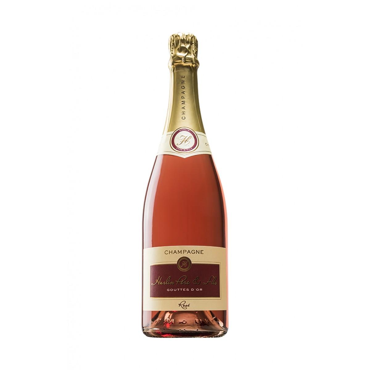 Champagne Cuvée Gouttes d'Or Rosé - Harlin Père et Fils