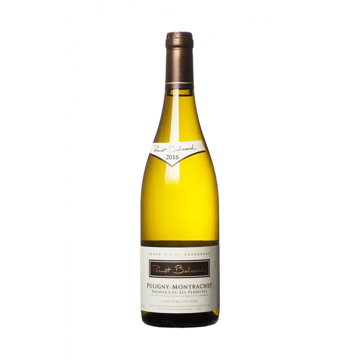 Puligny Montrachet 1er Cru Les Perrieres 2016 - Domaine Pernot Belicard